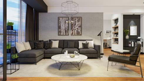 SALA COMEDOR - VANGUARD:  de estilo  por FABRE STUDIO