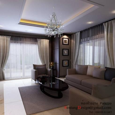 งานตกแต่งบ้าน คุณนัฐพล The Palazzo:   by เอสทีดี เดคคอร์ จำกัด