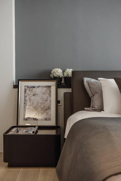 床頭設計:  臥室 by 存果空間設計有限公司