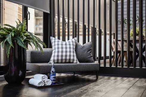 主臥外休閒區:  室內景觀 by 存果空間設計有限公司