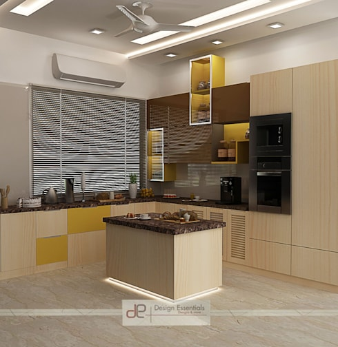 Villa at Jay Pee Greens Greater Noida :  Kitchen by Design Essentials