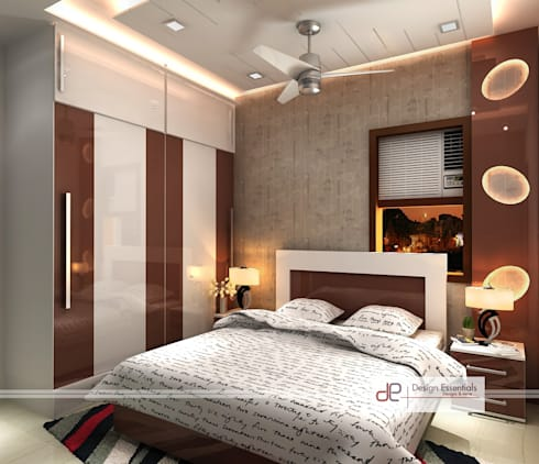 designing a bedroom residence at rohini new delhi by design essentials homify 11418
