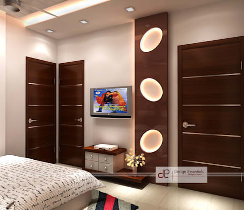 Residence at Rohini, New Delhi: modern Bedroom by Design Essentials
