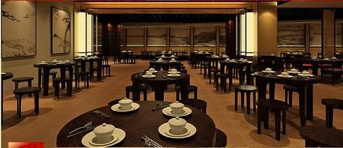 實品案例-高雄翰品酒店:  餐廳 by 禾木家具
