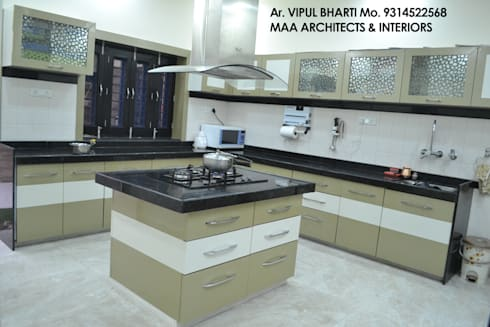 Prem Chelani ji: modern Kitchen by MAA ARCHITECTS & INTERIOR DESIGNERS
