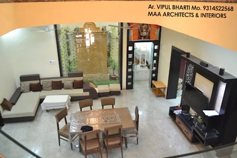 Prem Chelani ji: modern Dining room by MAA ARCHITECTS & INTERIOR DESIGNERS