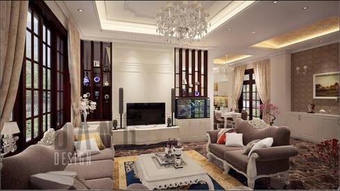 không gian phòng khách:  Phòng khách by DCOR