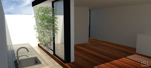 Roof Garden:  Patios & Decks by Hall Arquitectos