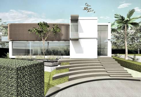 Fachada Principal:  de estilo  por Elite Arquitectura y Asoc. SAS.