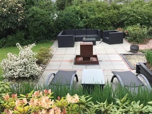 gartenbrunnen cortenstahl von gauger design homify. Black Bedroom Furniture Sets. Home Design Ideas
