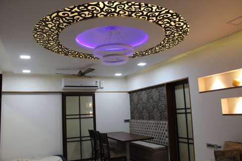 modern Dining room by Vinayak Interior   Interior Designing and Decorator Companies