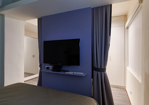現代風設計個案:  臥室 by 精洲室內裝潢工程有限公司