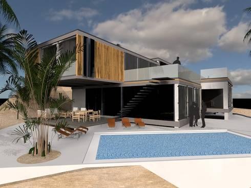 Poseidón, Pucusana, Lima: Casas de estilo moderno por MGR