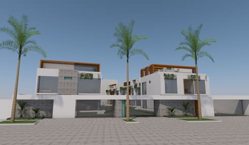 Condominio, La Alameda de La Planicie, La Molina, Lima: Casas de estilo moderno por MGR