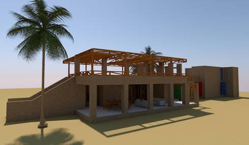 Casa de Campo, Lunahuaná, Cañete, Lima: Casas de estilo rural por MGR