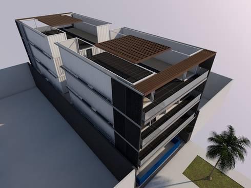 San Bartolo, Lima: Casas de estilo moderno por MGR