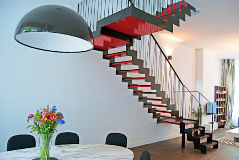 Moderne trap by van bruchem staircases & interiors homify