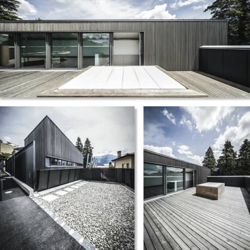 Villa di legno lugano fotografia architettura esterni e for Case architettura moderna