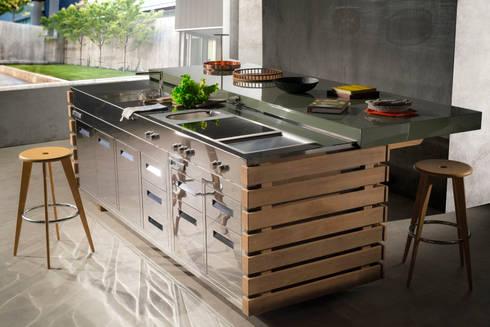 Cucina da Esterno Perpetua par Laboratorio Mattoni | homify