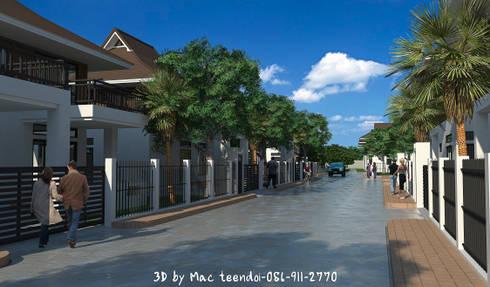 ภาพ3Dโครงการหมู่บ้าน:  บ้านและที่อยู่อาศัย by MaxShop