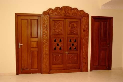 Door designs: asian Living room by Scale Inch Pvt. Ltd.