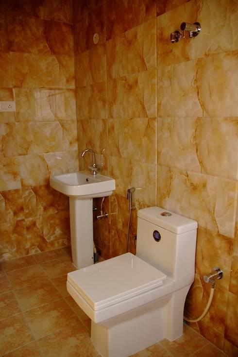 bathroom designs online:  Bathroom by Scale Inch Pvt. Ltd.
