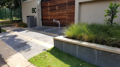 New driveways and garden for Wendal and Busi: modern Garden by Gorgeous Gardens