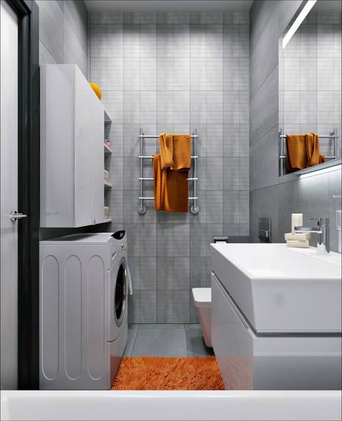 33 квадрата: Ванные комнаты в . Автор – Дизайнер Светлана Юркова