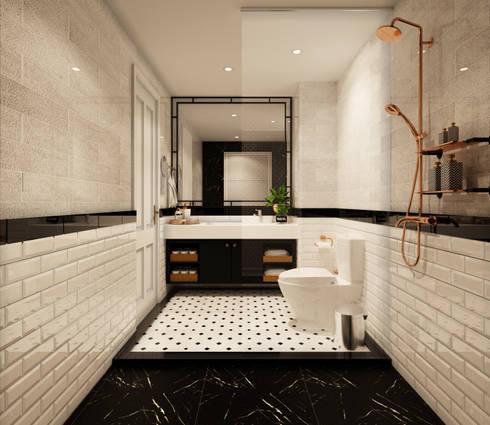 rustic Bathroom by 22Augustudio