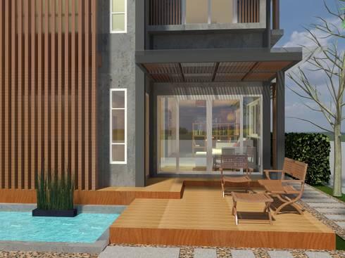 Sukhumvit 50 Residence:  บ้านและที่อยู่อาศัย by Aim Ztudio