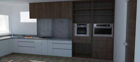 Cocina VH39: minimalistic Kitchen by Hall Arquitectos