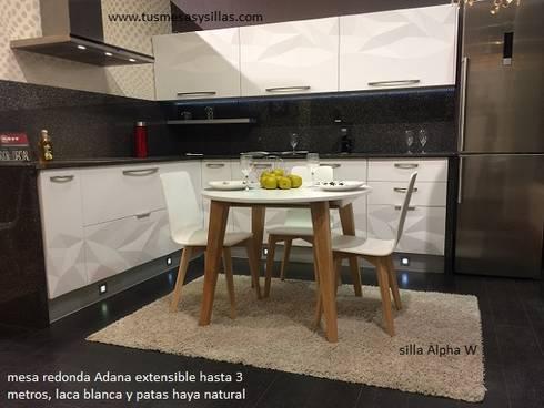 Mesa redonda extensible adana de homify - Mesa cocina redonda extensible ...