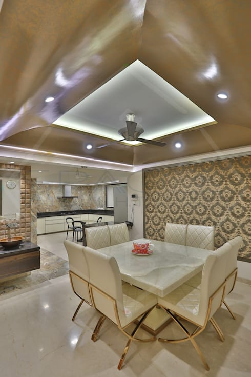 CAPITAL GREEN - 1: asian Dining room by SPACCE INTERIORS