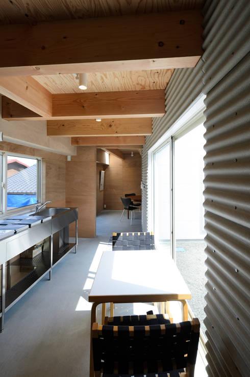 Cocinas de estilo industrial por 風景のある家.LLC