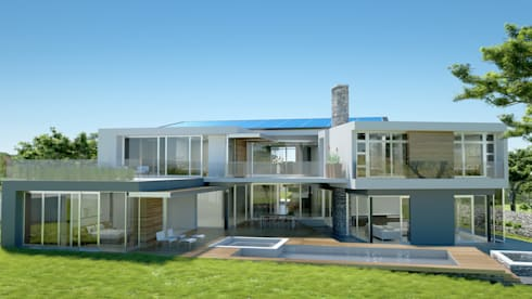 1200 square meter home in Steyn City:   by Luc Zeghers Architects