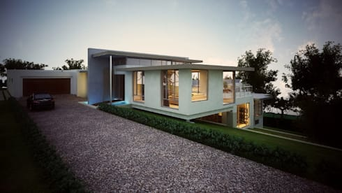 House van Wyk: modern Houses by John McKenzie Architecture
