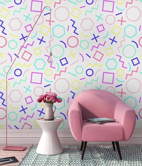 GEOMETRIC THOUGHTS :  Living room by Pixers
