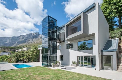 Road side elevation.: modern Houses by Architectural Hub