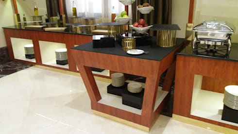 Buffet counter: minimalistic Dining room by Gurooji Design