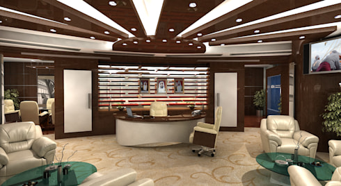CEO's Office:  Offices & stores by Gurooji Design