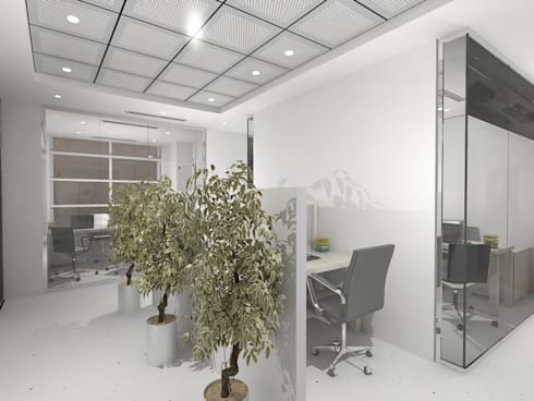 Real estate office:  Offices & stores by Gurooji Design