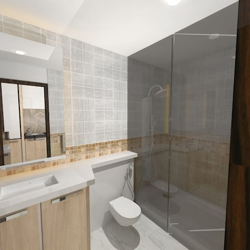Palacio Studio Apartment : modern Bathroom by Gurooji Design