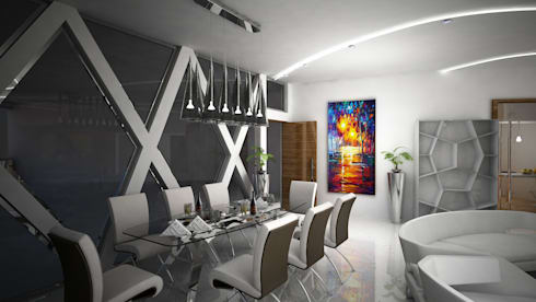 Laurel Interiors: modern Dining room by Gurooji Design