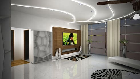 Laurel Interiors: modern Living room by Gurooji Design