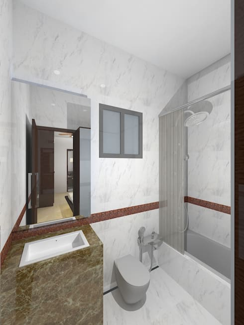 Container house: modern Bathroom by Gurooji Design