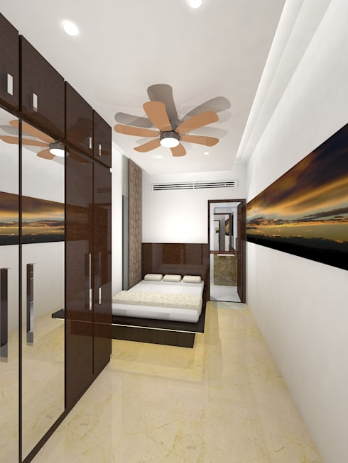 Container house: modern Bedroom by Gurooji Design