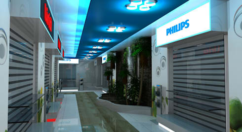 Philips Showroom Jeddah:  Commercial Spaces by Gurooji Design