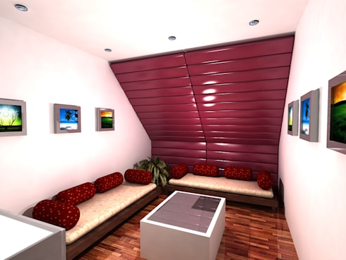 Neelesh Residence: modern Living room by Gurooji Design