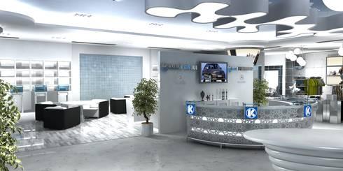 Merc. Merchandise Showroom:  Car Dealerships by Gurooji Design