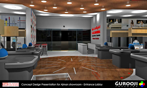 K M Trading Ajman:  Commercial Spaces by Gurooji Design
